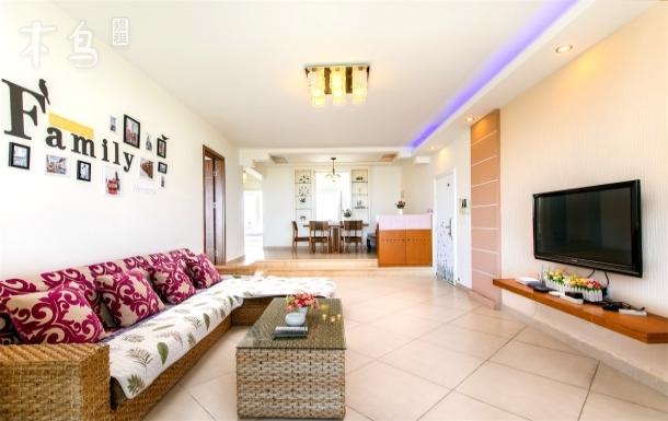 三亚湾全视野度假公寓,采光极佳,三室两厅
