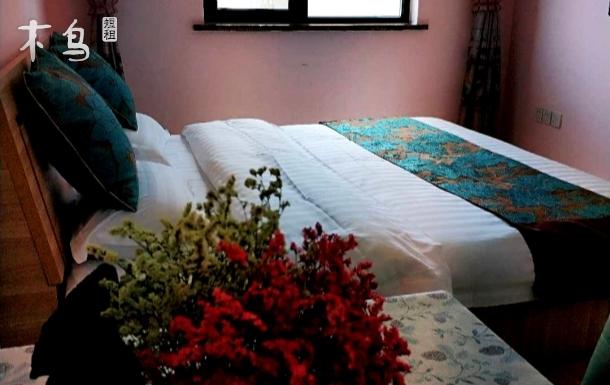 奥体旁粉色浪漫大床房