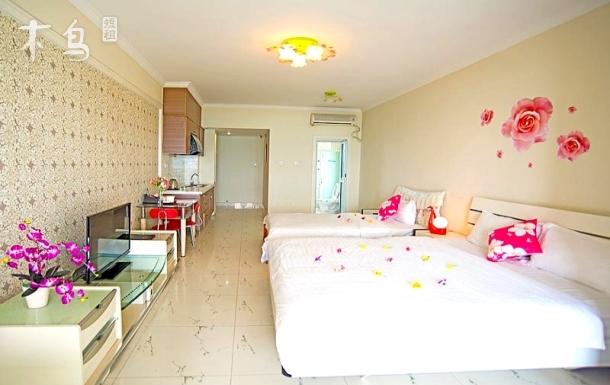 三亚湾椰梦长廊豪华海景双床房,3天起接机