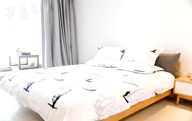 【看海】大梅沙海景北欧风大床房