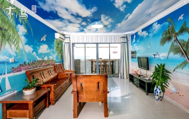 三亚湾 步行海边5分钟 椰林沙滩主题三室套房