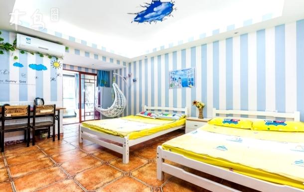 蔚海蓝天公寓亲子房(双卫套房)
