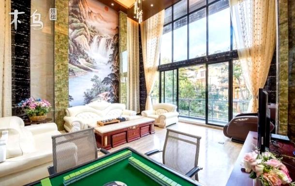 明月山溪温泉度假别墅11房15床+烧烤+麻将+温泉池+茶具+KTV+桌球+泳池