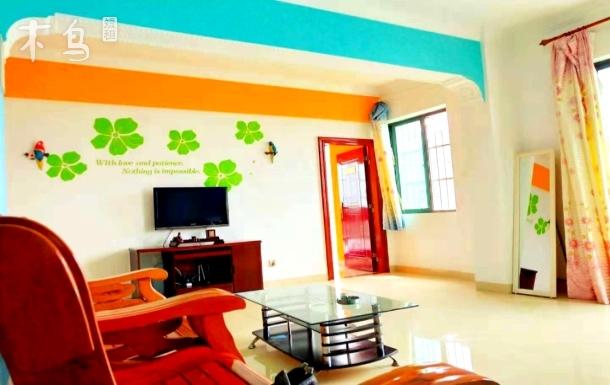 外滩海景家庭主题公寓,田园主题风,近市场海边三居室
