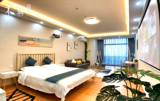 【广州南站长隆精品公寓】和风主题3D电影大床房