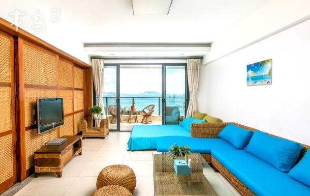 三亚湾豪华海景温泉泳池两房零厅套房