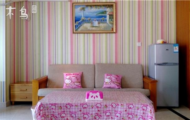 靠近明珠广场 卡通海景亲子房一居室