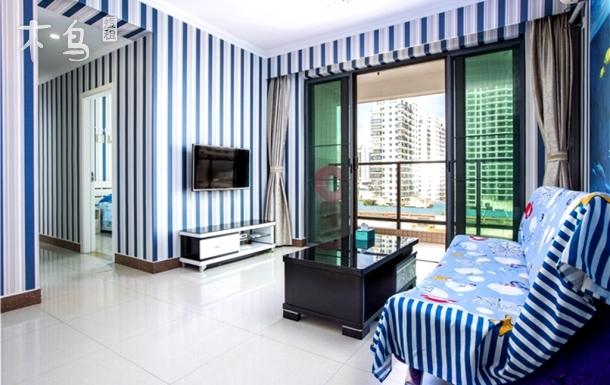 外贸路 阳台海景两室一厅家庭房-三亚湾