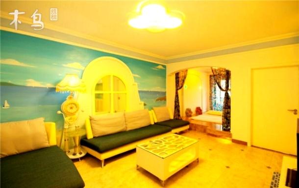 三亚大东海园景精品两室一厅套房