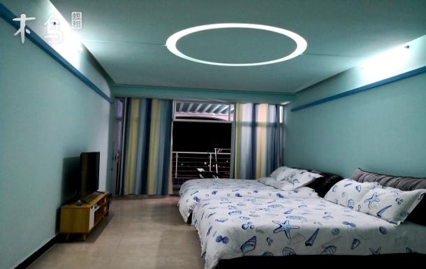 【看海】大梅沙海景地中海双床房