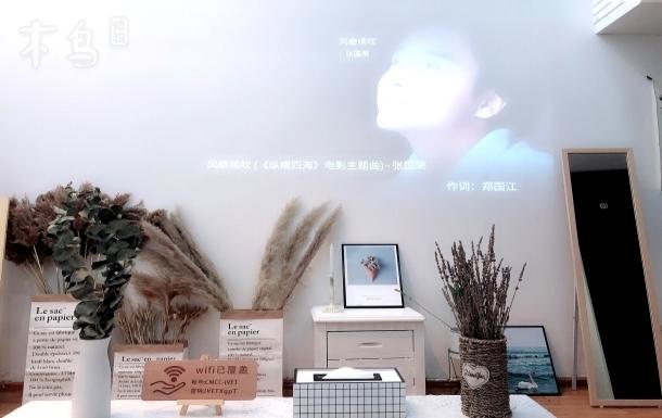 汉口火车站地铁 loft复式北欧轻奢落地窗投影房