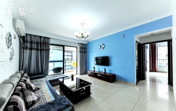距大东海海边100米大阳台宽敞两室一厅套房