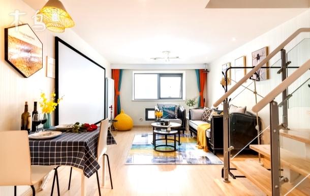 【名郡loft】天津站美式巨幕观影loft一室一厅