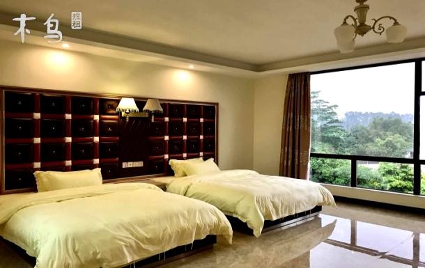 广州白水寨仙河谷农庄豪华瀑布双床房