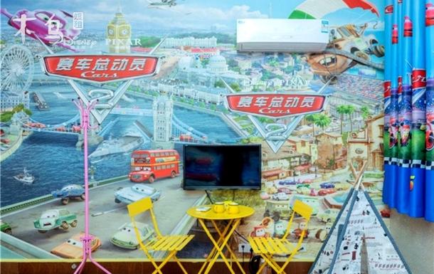 双床房迪士尼卡通主题套房11号线迪士尼站