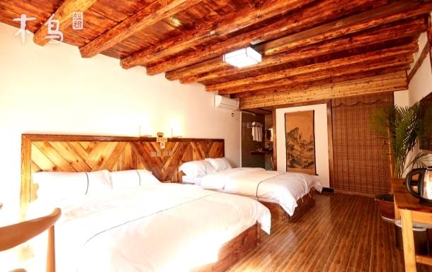 山水悠鸣*机场边度假园林民宿*前园景温馨舒适双床房