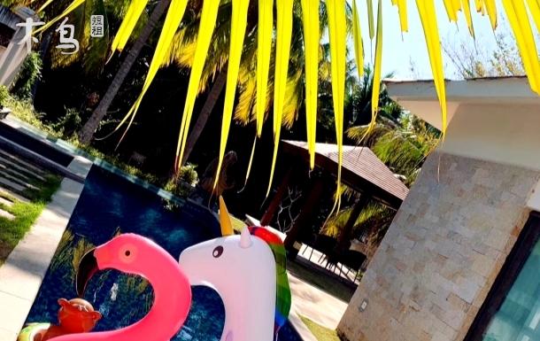亚龙湾东南亚临海独栋私家蜜月亲子嬉水泳池别墅