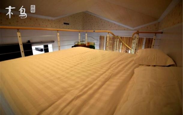 沙滩阳光美式大床房-观海阁