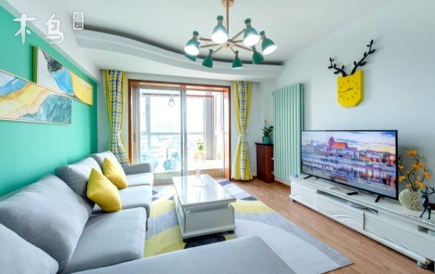 五四广场地铁站旁全海景简约风格两居室公寓