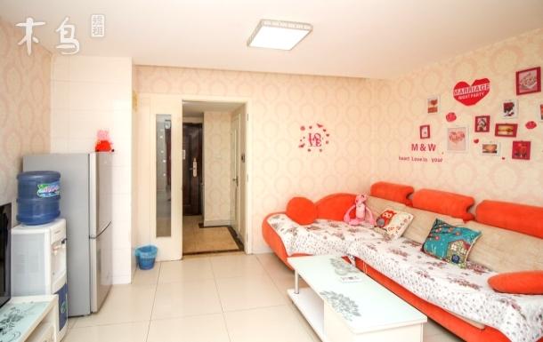 楼下双地铁 鼓楼 天津之眼 意式风情区温馨家园大床房