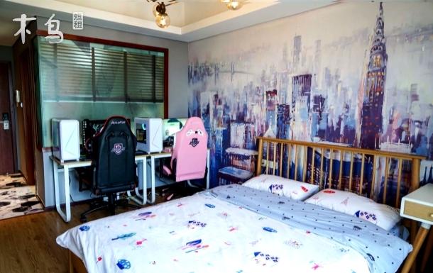 杭州大玩家电竞公寓钛合国际双人情侣房