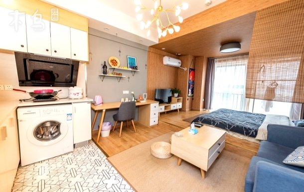 春熙路/太古里/动物园/地铁3号线和服免费使用,日式榻榻米大床房