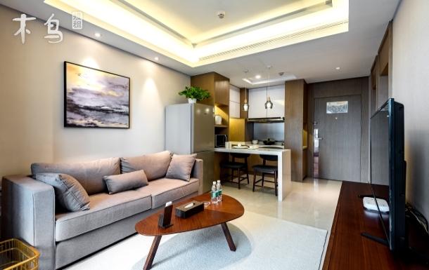苏州新区一室一厅自带景观落地阳台套房