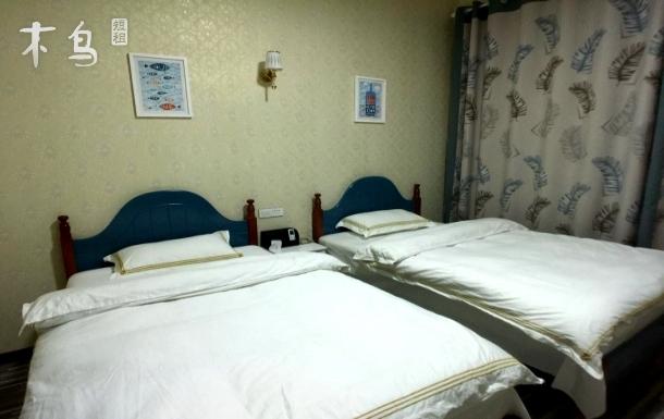 武汉天河机场北欧舒适温馨双床房 机场范围24小时免费接送