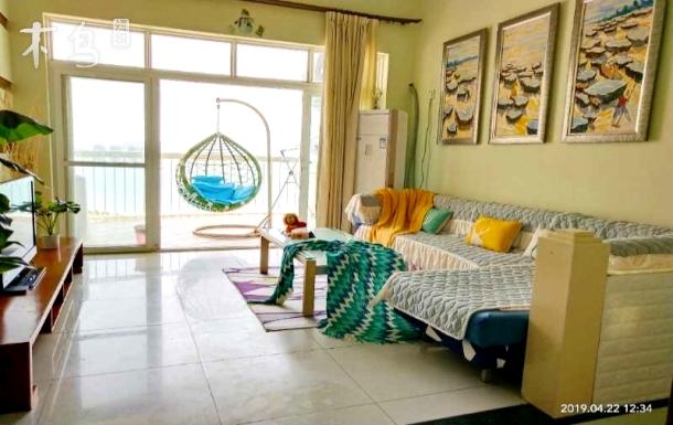 椰梦长廊附近的 豪华海景复式套房两居室
