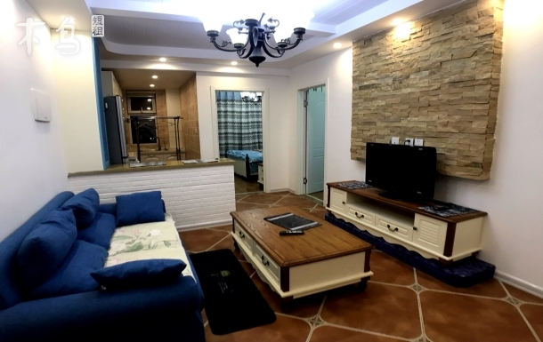 唐轩公馆小区两室一厅豪华版私人定制房空调宽带有线电视网络