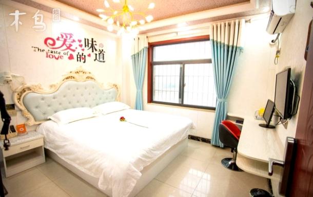 武汉火车站地铁口爱的味道大床房