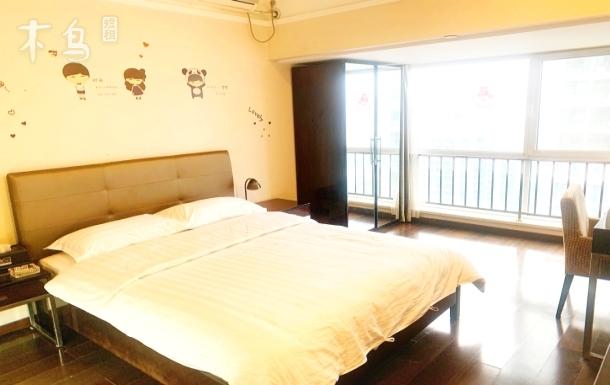 奥城商业广场观景温馨大床房