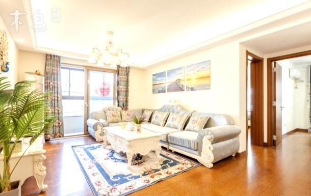 【高档小区】小外滩120平三居室-欧陆暖色风风景房/采光南北通透