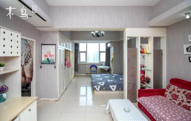 双地铁海河天津之眼温馨阳光三床五人套房