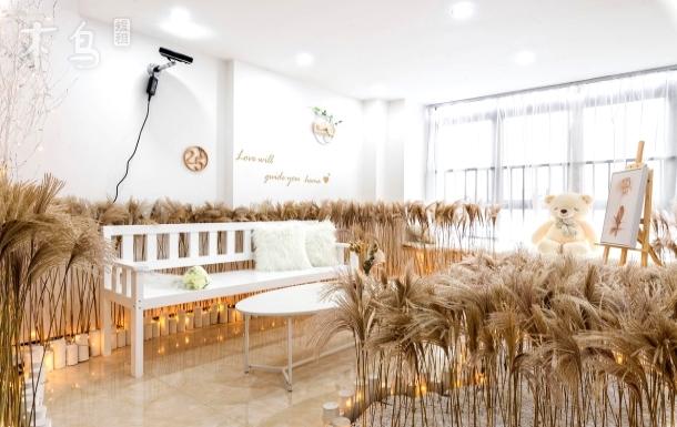 【25℃】426 地铁口.长隆度假区ins风复式loft双床房120寸投影.直达