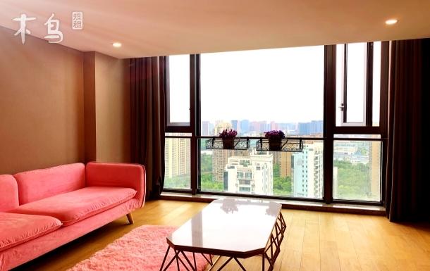 运河畔落地窗简约精装loft双层温馨
