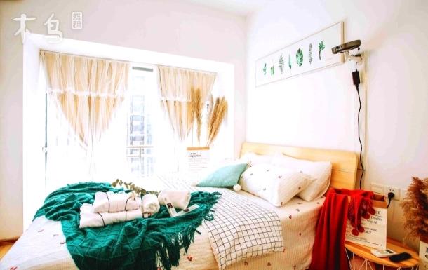 【心窝1】投影芦苇落地窗一室一厅,武汉大学,地铁口,街道口,华师理工大,群光中南商圈,独立厨卫