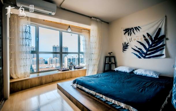 国际海水浴场松涛蓝海高层观景大床房