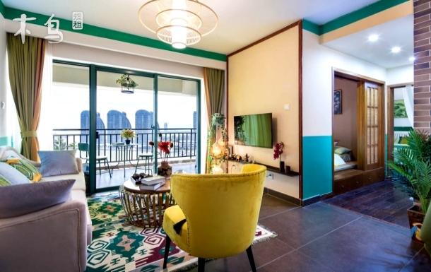 【忆宿●风情】2室2厅2卫一海景阳台,近大东海 三亚湾 酒吧一条街 鸿洲游艇会