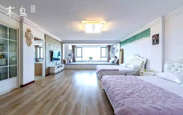 国际海水浴场200平超大观海套房5室2卫1分钟到海边