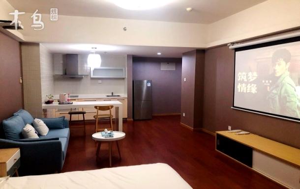 【海睿家】博雅大厦宽敞北欧舒适投影大床房
