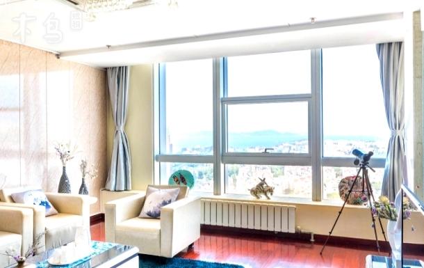 坐拥繁华全海景 红瓦绿树 碧海蓝天 山海一线 高端新中式公寓  商务度假首选