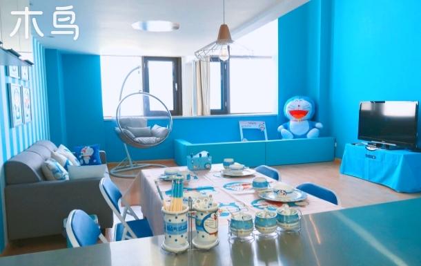 青岛北站哆啦A梦主题loft海景公寓