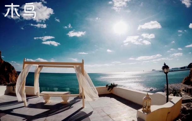 伍间·海之滨海路老虎滩海洋公园海景房 露台观景落地窗一居室大床可住2人