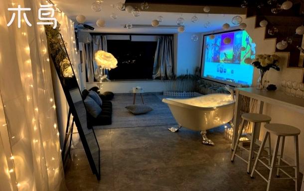 【25℃】1506网红吊地铁口#长隆度假区ins风复式loft.直达广州塔.投影