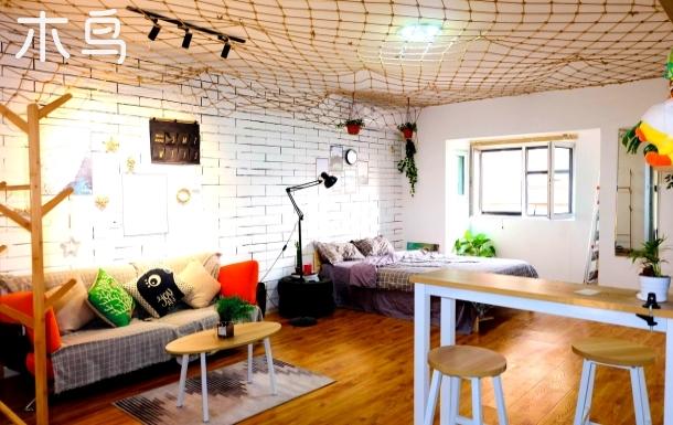 禧悦汇一室北欧慵懒大床房54平米可做饭