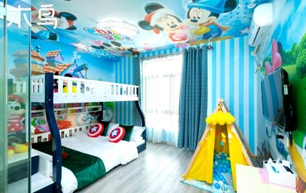 迪士尼亲子房,免费专车接送,含双早,有优惠门票及导览服务