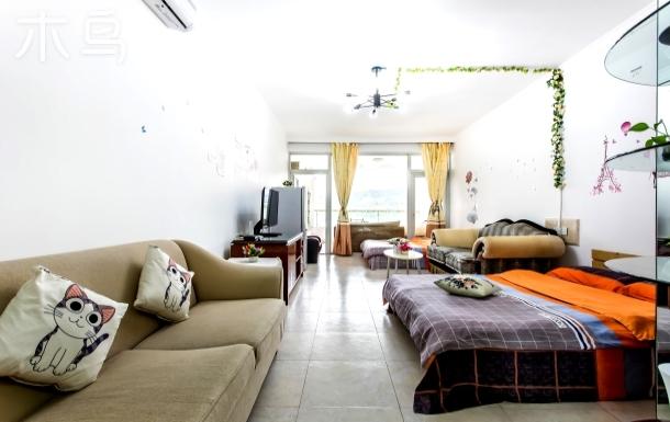大梅沙大阳台直观海景双1.5床格调房