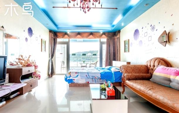大梅沙近海大阳台高层观海烂漫大床房
