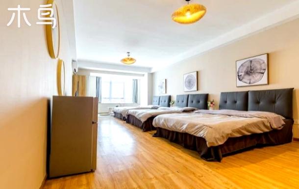 东二环旁整租公寓 日式风六人间 带浴缸 高层视野好